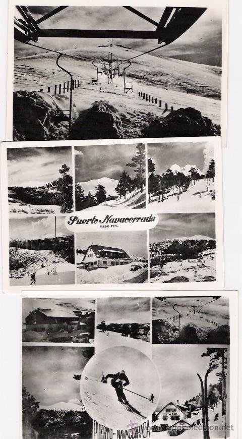 NAVACERRADA 3 POSTALES (Postales - España - Madrid Moderna (desde 1940))