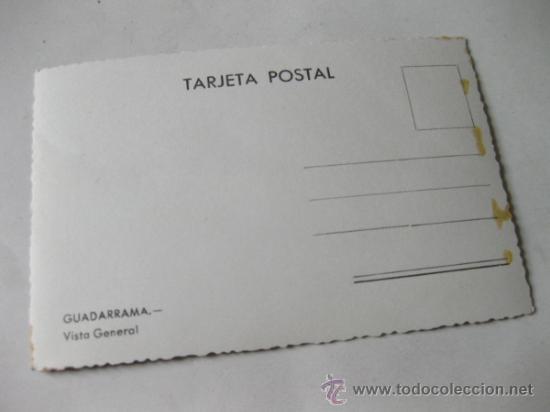 Postales: POSTAL FOTOGRAFICA DE GUADARRAMA - MADRID - VISTA GENERAL - Foto 2 - 35169492