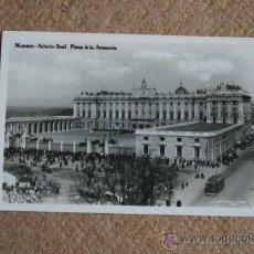 Postales: POSTAL. MADRID. PALACIO REAL. PLAZA DE LA ARMERÍA.. Lote 35398356