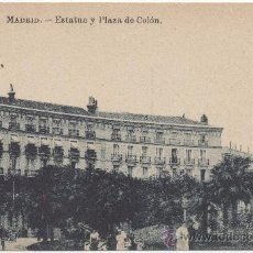 Postales: MADRID.- ESTATUA Y PLAZA DE COLÓN.. Lote 35436922