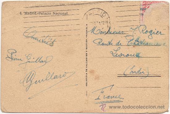 Postales: MADRID.- PALACIO NACIONAL. (C.1930). - Foto 2 - 35437605