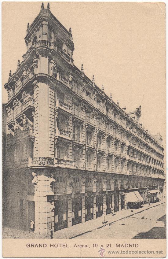 MADRID.- GRAND HOTEL, ARENAL, 19 Y 21. (Postales - España - Comunidad de Madrid Antigua (hasta 1939))