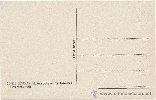 Postales: EL ESCORIAL.- PANTEÓN DE INFANTES. LOS HERALDOS. - Foto 2 - 35475417