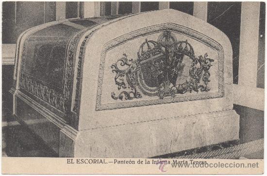 EL ESCORIAL.- PANTEÓN DE LA INFANTA MARÍA TERESA. (Postales - España - Comunidad de Madrid Antigua (hasta 1939))