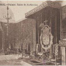 Postales: EL ESCORIAL.- PALACIO. SALÓN DE AUDIENCIAS.. Lote 35475943