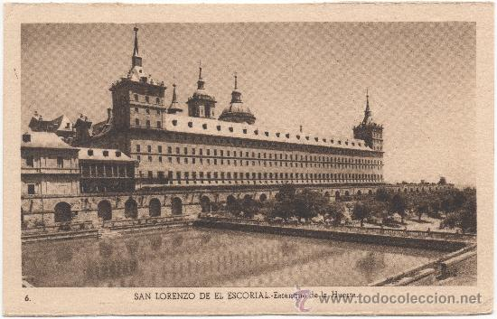 SAN LORENZO DE EL ESCORIAL.- ESTANQUE DE LA HUERTA. (Postales - España - Comunidad de Madrid Antigua (hasta 1939))