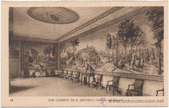 SAN LORENZO DE EL ESCORIAL.- COMEDOR DEL PALACIO. (Postales - España - Comunidad de Madrid Antigua (hasta 1939))