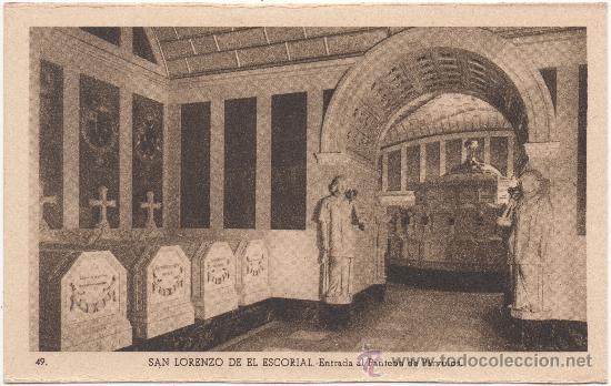 SAN LORENZO DE EL ESCORIAL.- ENTRADA AL PANTEÓN DE PÁRVULOS. (Postales - España - Comunidad de Madrid Antigua (hasta 1939))