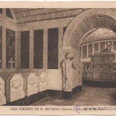 Postales: SAN LORENZO DE EL ESCORIAL.- ENTRADA AL PANTEÓN DE PÁRVULOS.. Lote 35586876
