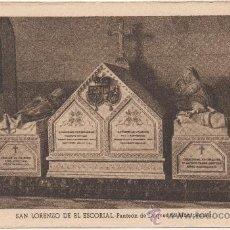 Postales: SAN LORENZO DE EL ESCORIAL.- PANTEÓN DE LOS DUQUES DE MONTPENSIER.. Lote 35588061