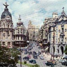 Postales: MADRID - CALLE DE ALCALA Y AVENIDA DE JOSE ANTONIO - GARCIA GARRABELLA - 14. Lote 35658640