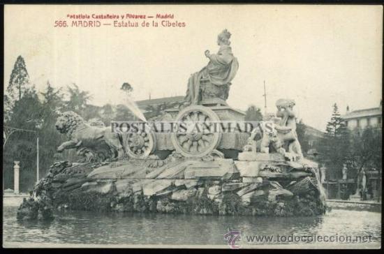 (A01074) MADRID - ESTATUA DE LA CIBELES - CASTEÑEIRA Nº566 (Postales - España - Comunidad de Madrid Antigua (hasta 1939))