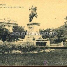 Postales: (A01079) MADRID - PLAZA DE ORINETE Y ESTATUA DE FELIPE IV - HAUSER Y MENET SN. Lote 35701320