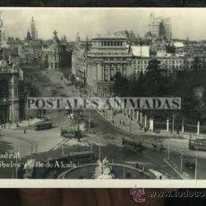 Postales: (A01111) MADRID - CIBELES Y CALLE ALCALA - RAPIDE Nº23 - TRANVIA. Lote 35701494