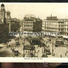 Postales: MADRID - PUERTA DEL SOL - TRANVIAS. Lote 35701537