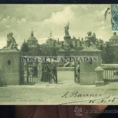 Postales: ARANJUEZ - ENTRADA AL JARDIN DE LA ISLA - TG Nº1724 REVERSO SIN DIVIDIR. Lote 35701630