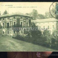 Postales: ARANJUEZ - JARDIN DEL PRINCIPE - CASA DEL LABRADOR - TG Nº1730 REVERSO SIN DIVIDIR. Lote 35701638