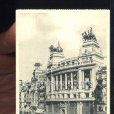 Postales: MADRID - CALLE DE ALCALA BANCO DE BILBAO - HAUSER Y MENET Nº78 - TRANVIA. Lote 35701705
