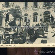Postales: MADRID - CASINO DE MADRID HALL - HAUSER Y MENET. Lote 35701728