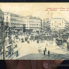 Postales: (A01153) MADRID - PUERTA DEL SOL - CASTAÑEIRA Nº599 - TRANVIAS. Lote 35701788