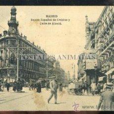 Postales: (A01164) MADRID - BANCO ESPAÑOL DE CREDITO Y CALLE ALCALA - HAUSER Y MENET. Lote 35701832