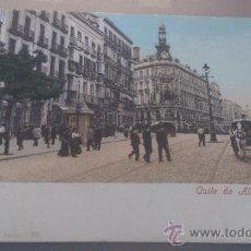 Postales: ANTIGUA POSTAL CALLE DE ALCALA Y EQUITATIVA MADRID PURGER & CO. Lote 35796487
