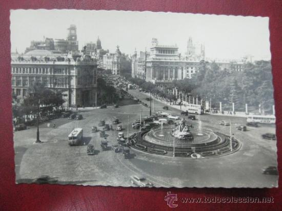 MADRID - PLAZA DE LA CIBELES - POSTAL FOTOGRAFICA (Postales - España - Comunidad de Madrid Antigua (hasta 1939))