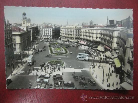 MADRID - PUERTA DEL SOL - POSTAL FOTOGRAFICA (Postales - España - Comunidad de Madrid Antigua (hasta 1939))