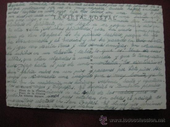 Postales: MADRID - PLAZA DE LA CIBELES - POSTAL FOTOGRAFICA - Foto 2 - 35998319