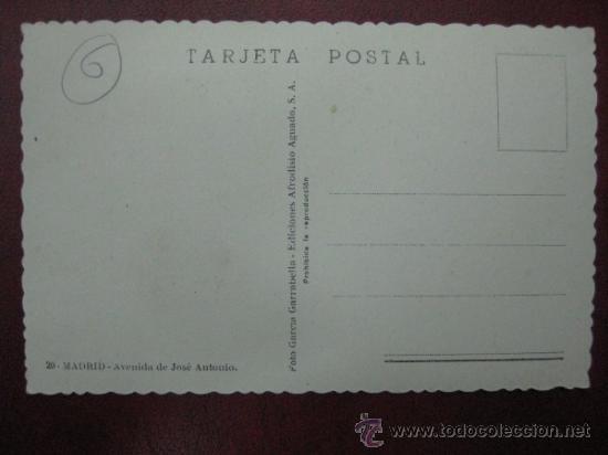 Postales: MADRID - AVENIDA DE JOSE ANTONIO - POSTAL FOTOGRAFICA - Foto 2 - 35998366