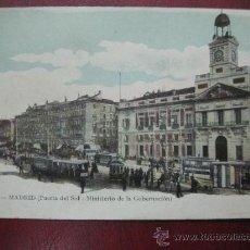 Postales: MADRID - PUERTA DEL SOL. MINISTERIO DE GOBERNACION. Lote 36006083