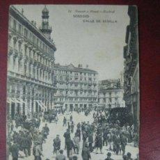 Postales: MADRID - CALLE DE SEVILLA. Lote 36006111