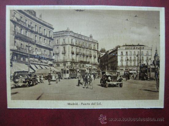 MADRID - PUERTA DEL SOL (Postales - España - Comunidad de Madrid Antigua (hasta 1939))