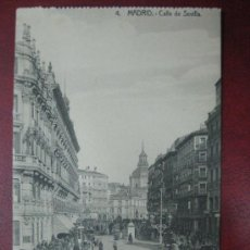 Postales: MADRID - CALLE DE SEVILLA. Lote 36006155