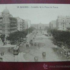 Postales: MADRID - AVENIDA DE LA PLAZA DE TOROS. Lote 36006174