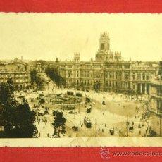 Postales: TARJETA POSTAL MADRID PLAZA DE CASTELAR, LA CIBELES Y CORREOS KALLMEYER Y GAUTIER. Lote 36146038