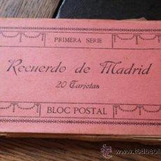 Postales: RECUERDO DE MADRID LOTE DE TRES CUADERNILLOS DE 20 POSTALES DE FOTOTIPIA J. ROIG TOTAL 60 POSTALES. Lote 36315480