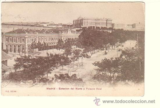 MADRID.- ESTACIÓN DEL NORTE Y PALACIO REAL (Postales - España - Comunidad de Madrid Antigua (hasta 1939))