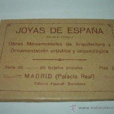 Postales: ANTIGUO BLOC DE POSTALES DEL PALACIO REAL....MADRID.. Lote 36444441