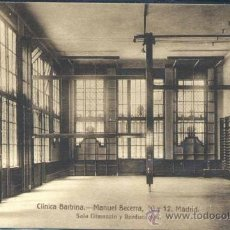 Postales: MADRID.- CLINICA BARTRINA- SALA GIMNASIO Y REEDUCACIÓN. Lote 36568990