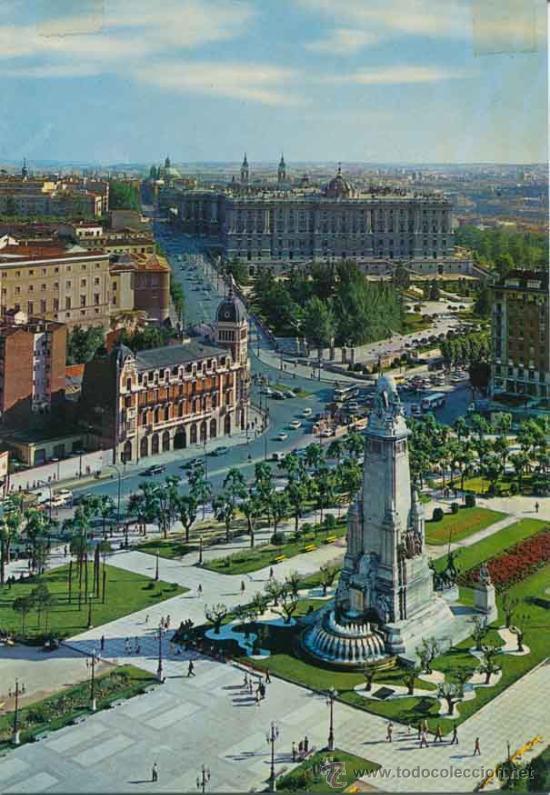 POSTAL - PLAZA DE ESPAÑA DE MADRID - J. L. GALLEGOS (Postales - España - Madrid Moderna (desde 1940))