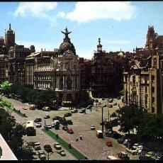 Postales: MADRID.- CALLE DE ALCALA Y AVENIDA JOSE ANTONIO.. Lote 36671916