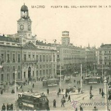 Postales: MADRID PUERTA DEL SOL MINISTERIO DE LA GOBERNACION. Lote 36845448
