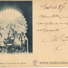 Postales: RARA POSTAL DE HAUSER Y MENET DE MADRID - LLEGADA A LA PLAZA DE TOROS - AÑO 1902. Lote 36937220