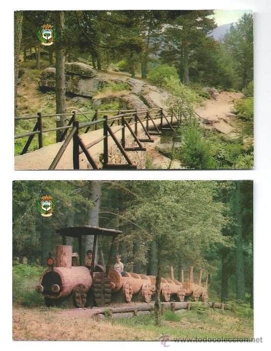 2 POSTALES DE CERDEDILLA (MADRID) 1981 (Postales - España - Madrid Moderna (desde 1940))