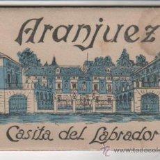 Postales: 10 POSTALES DE ARANJUEZ: CASITA DEL LABRADOR. HELIOTIPIA ARTÍSTICA ESPAÑOLA.. Lote 37033481