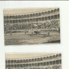 Postales: POSTAL, CORRIDA DE TOROS CITANDO A BANDERILLAS, HAUSER MENET 2 UNIDADES.. Lote 37102644