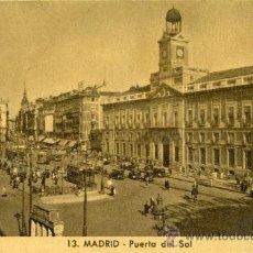 Postales: MADRID.- PUERTA DEL SOL. Lote 37126265