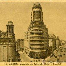 Postales: MADRID AVENIDA DE EDUARDO DATO Y CAPITOL. Lote 37126326