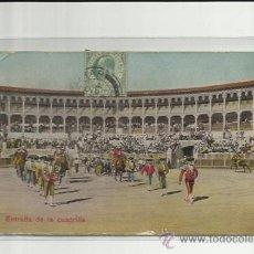 Postales: POSTAL TAURINA, ENTRADA DE LA CUADRILLA.1913 MADRID. Lote 37243515